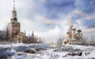 post apocalyptic winter in moscow wallpaper