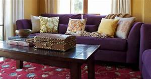 Purple Sofa Decor Ideas To Mix & Match Your Living Room