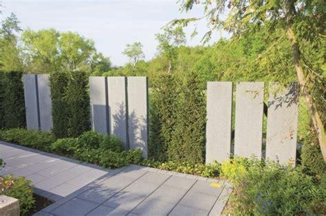 Gartenzaun Aus Beton by Beton Und Andere Passende Materialien F 252 R Moderne Gartenz 228 Une