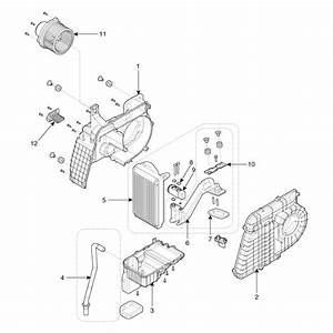 Kia Sorento  Rear Air Conditioner Unit Components