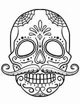 Skull Coloring Sugar Printable sketch template
