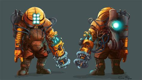 daddy bioshock future could they enforcers stuck rust brass past