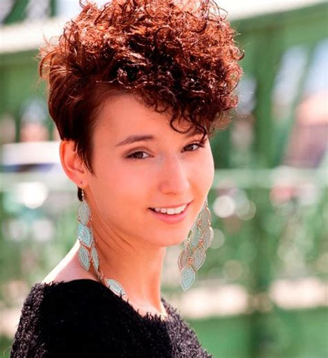 dazzling permed short hairstyles cool trendy short