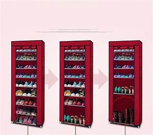 Ktaxon, 10, Layer, 9, Grid, Shoe, Rack, Shelf, Storage, Closet, Boot, Organizer, Cabinet, Portable, Uff0cmulti