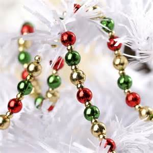 christmas mini beaded garland garlands floral supplies craft supplies