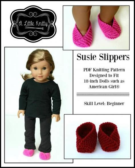 knitty susie slippers doll clothes knitting