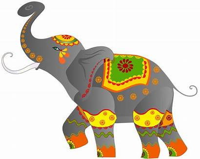 Elephant Indian Clipart Clip Decorative India Kerala