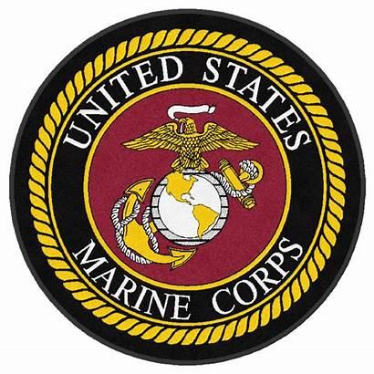 Corps Marines Round Rug Marine Military Rugs