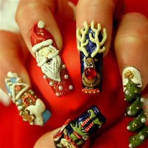 christmas nail art design Creating Christmas nail art is