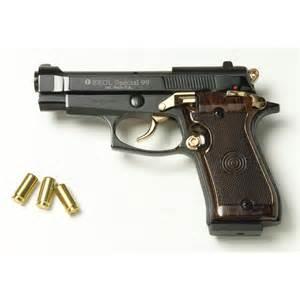 Gold 9 Millimeter Gun