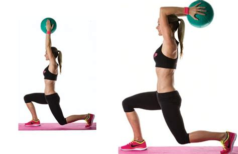 medicine ball lunge  triceps extension target