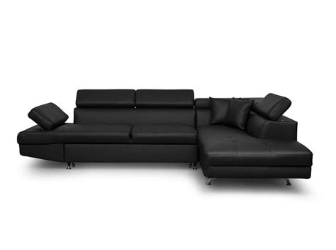 canapé d angle compact canapé d 39 angle droit convertible avec coffre noir