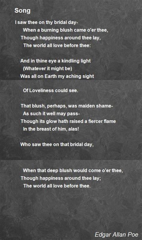 song poem  edgar allan poe poem hunter