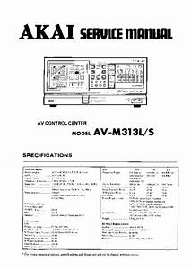 Akai Av S  Service Manual  Repair Schematics