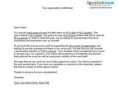 sponsorship request letter template  fundraising