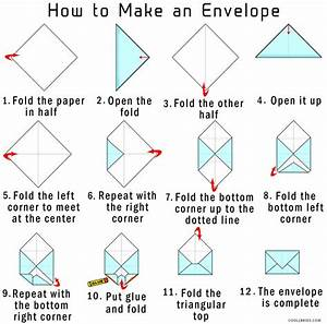 how to make your own origami envelope from paper cool2bkids With how to print your own envelopes
