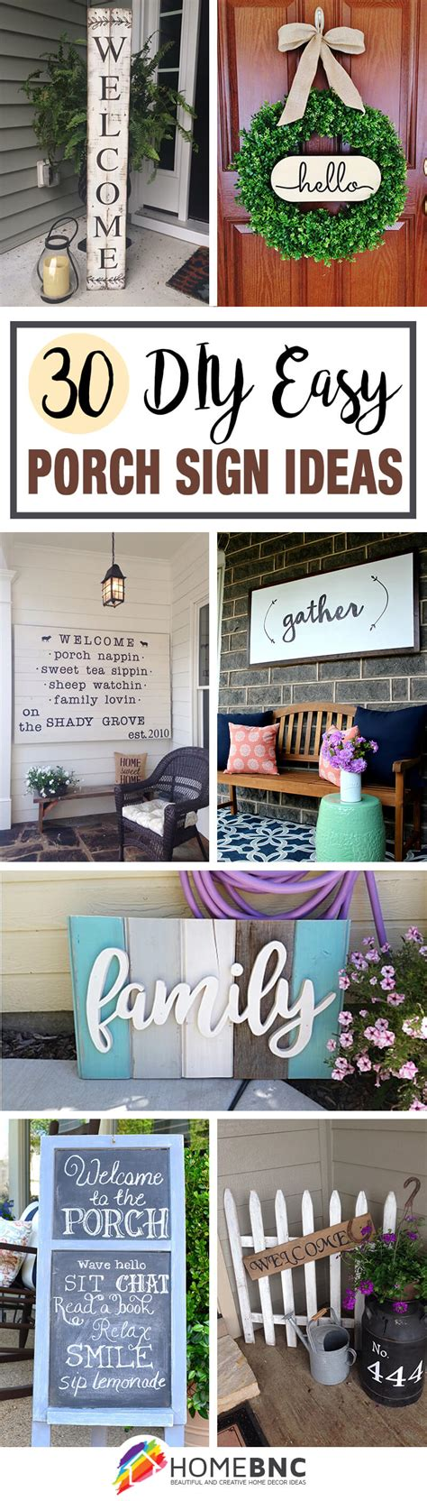 30 Best Front Porch Sign Designs And Diy Ideas For 2019