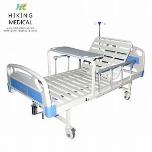 Single Crank Detachable Manual Folding Hospital Bed For