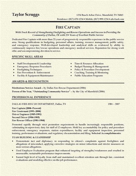 25 best ideas about firefighter resume on ems