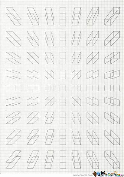 Grid Doodles Paper Satisfying