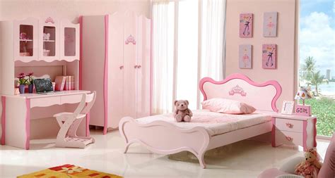 White Wooden Bed With Head Board Also Pink Bedding Set
