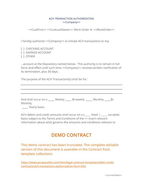 ach transaction authorization form  easy steps