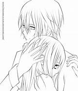 Coloring Kaname Anime Line Draw Kuran Yuki Couple Deviantart Kissing Yume Drawings Printable sketch template