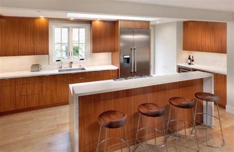 split level kitchen island split level waterfall island countertop kitchens 5653