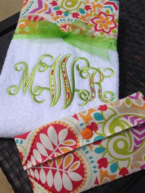 bright and bold lounge chair towels personalized