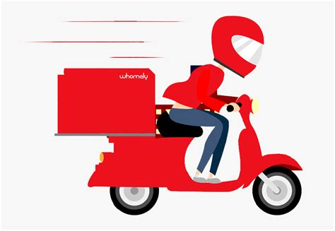 Scooter Clipart Delivery Scooter - Free Home Delivery Png ...