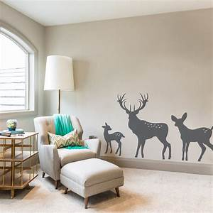Wall decal awesome deer decals for walls tree and deer for Deer wall decals