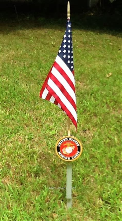 Memorial Day Graveside Decorations by Cemetery Stick Flag Graveside Usmc Marker Stake Outdoor