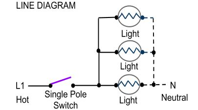 Single Pole Switch And Schematic Switched Wiring by Single Pole Switch Wiring Methods Electrician101