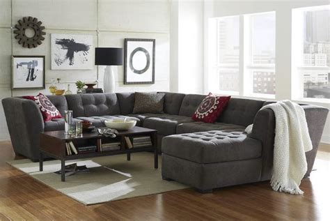Exceptional Roxanne Fabric Modular Living Room Furniture