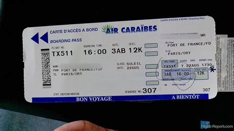 numero siege avion avis du vol air caraibes fort de en economique