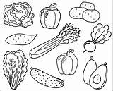 Vegetable Coloring Pages sketch template