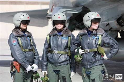 Chinese Female Jh-7/j-10 Fighter Pilots