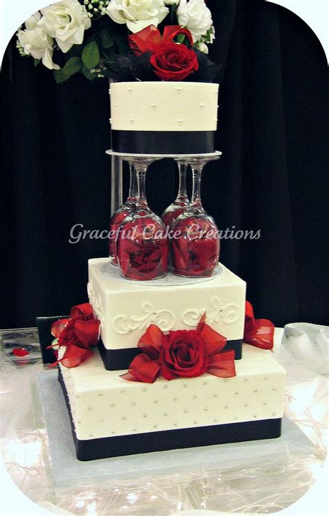 red and black wedding cake decorations elegant white black and red wedding cake in 2019 cakes