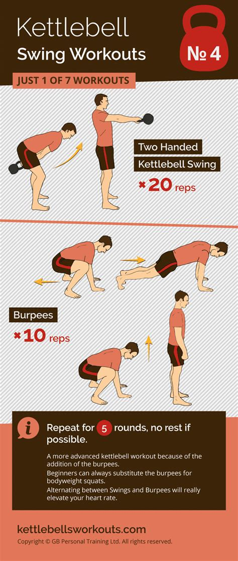 kettlebell swing workouts workout under swings burpee minutes ladder kettlebellsworkouts fitness exercise exercises challenge deadlift routines reps training beginner superb