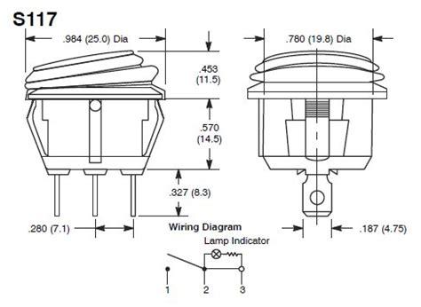 spst rocker switch wiring diagram circuit and schematics