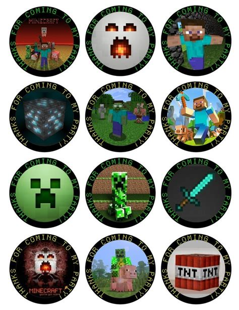 printable minecraft cupcake toppers minecraft
