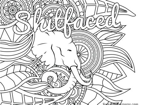 Kitchen. Swear Word Coloring Pages Printable Free