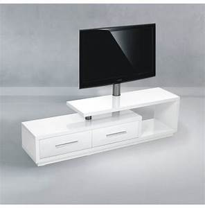 Meuble Tv Haut De Gamme Design : meuble tv design blanc laque 170 cm ~ Teatrodelosmanantiales.com Idées de Décoration