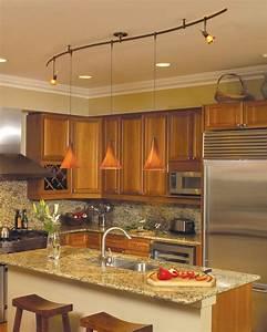Wonderful kitchen track lighting ideas midcityeast for Kitchen island track lighting