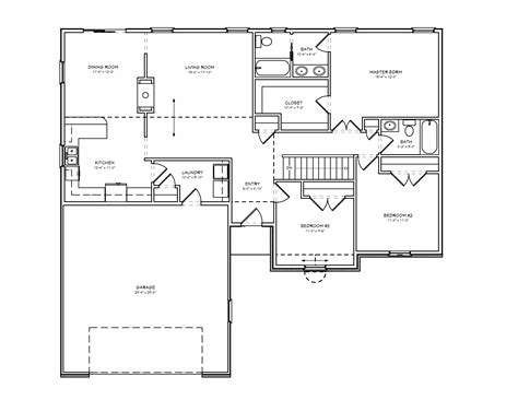 2 bedroom ranch house plans 2 bedroom bath ranch floor plans gallery with