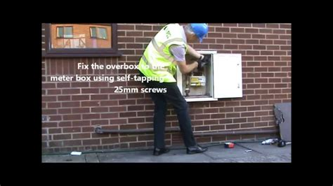 repairing  damaged meter box youtube