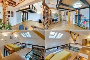 Chambre Gain De Place : lit mezzanine 2 places 9 id es gain de place chambre adulte loft bed pinterest mezzanine ~ Farleysfitness.com Idées de Décoration
