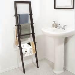 Leaning Ladder Towel Rack Bathroom