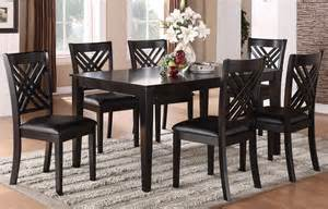 espresso dining room set espresso 7 dining room set 18762 standard furniture