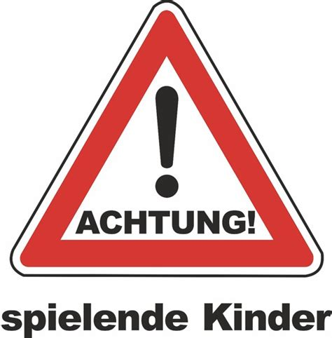 Wetterfestes Schild Quot Achtung Spielende Kinder Quot Ebay